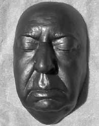 Hitchcock death mask